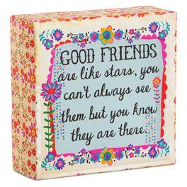 Natural Life Good Friends Are Like Stars Canvas Keepsake, , large