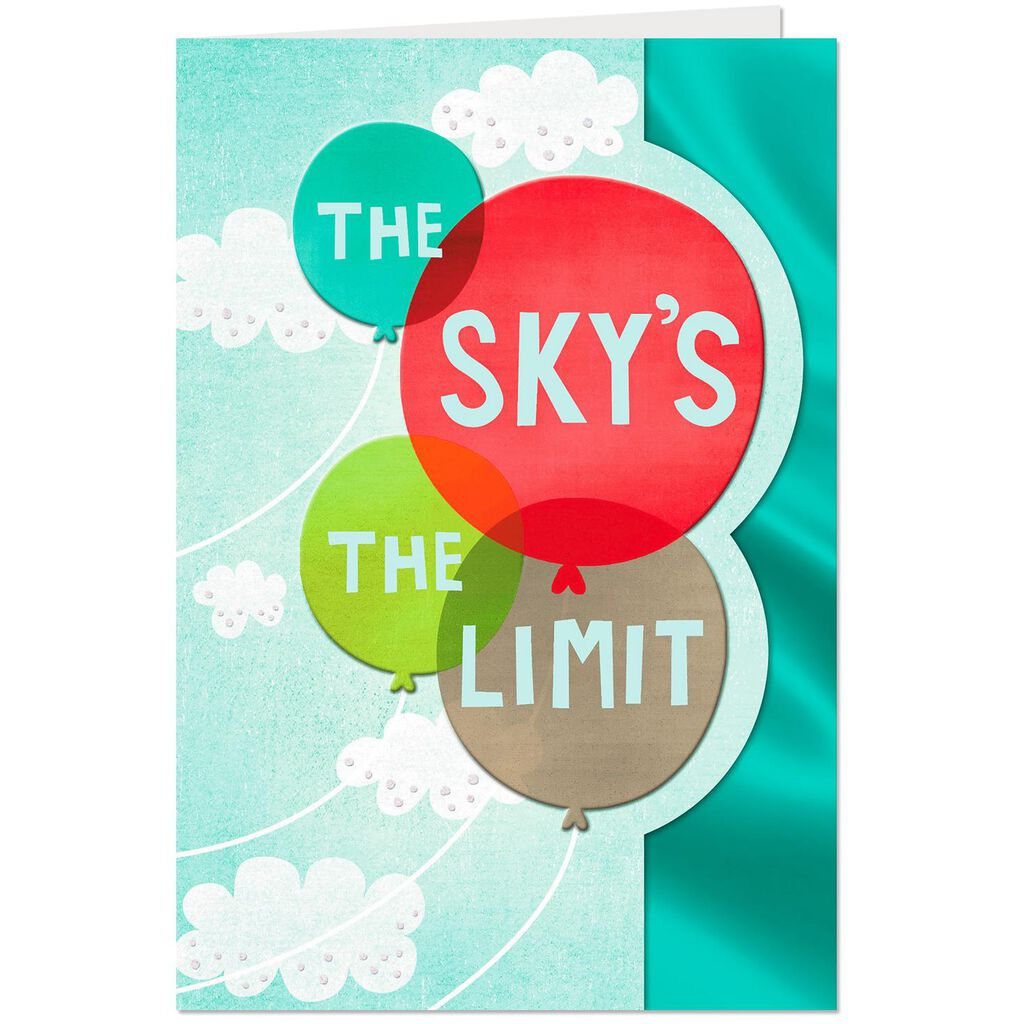 The Skys The Limit College Graduation Card Greeting Cards Hallmark