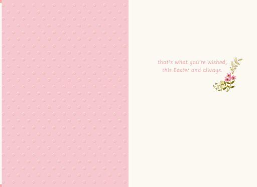 Spring Flower Basket Easter Card for Granddaughter,