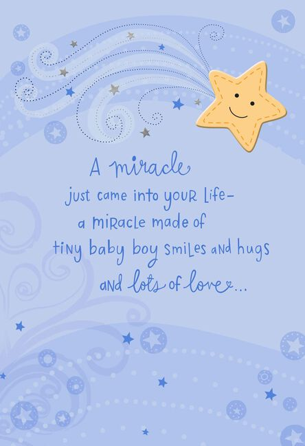 A miracle came into your life new baby boy card greeting cards a miracle came into your life new baby boy card m4hsunfo