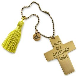 Guardian Angel Cross Car Mirror Charm, , large