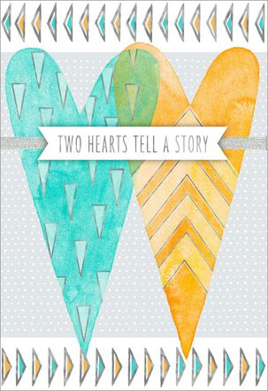 Two Hearts Tell a Story Anniversary Card