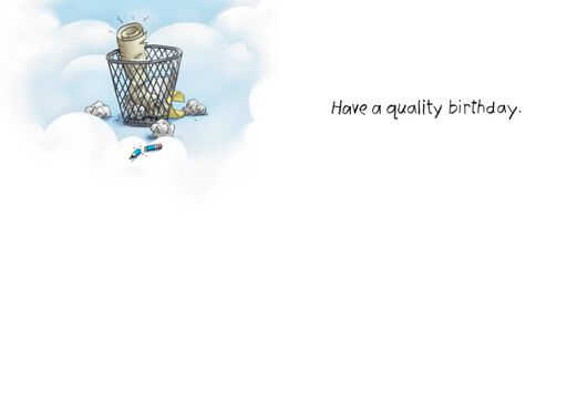 Quality Control Issues in Heaven Funny Birthday Card,