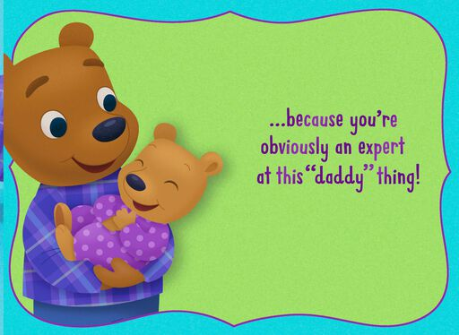 Papa Bear and Cub Happy 1st Father's Day Card,