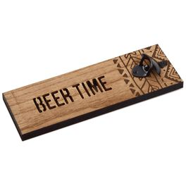 Beer Time Wall Mounted Bottle Opener, , large
