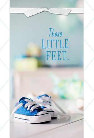 Tiny Sneakers New Baby Boy Card
