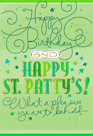 Sign of the Shamrock St. Patrick's Day Birthday Card