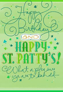 Sign of the Shamrock St. Patrick's Day Birthday Card,