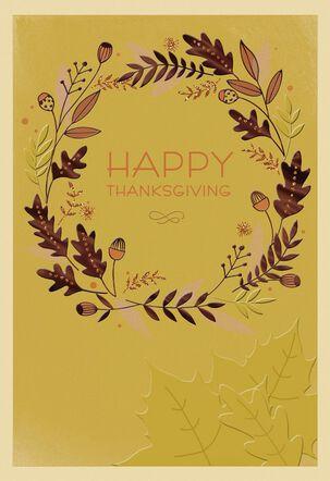 Grateful Hearts Gather Thanksgiving Card