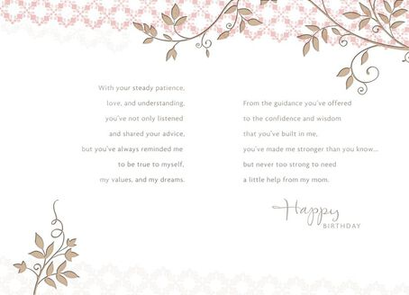 because of you mom birthday card  greeting cards  hallmark, Birthday card