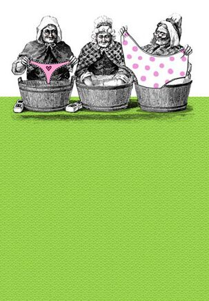 Granny Panties Funny Birthday Card