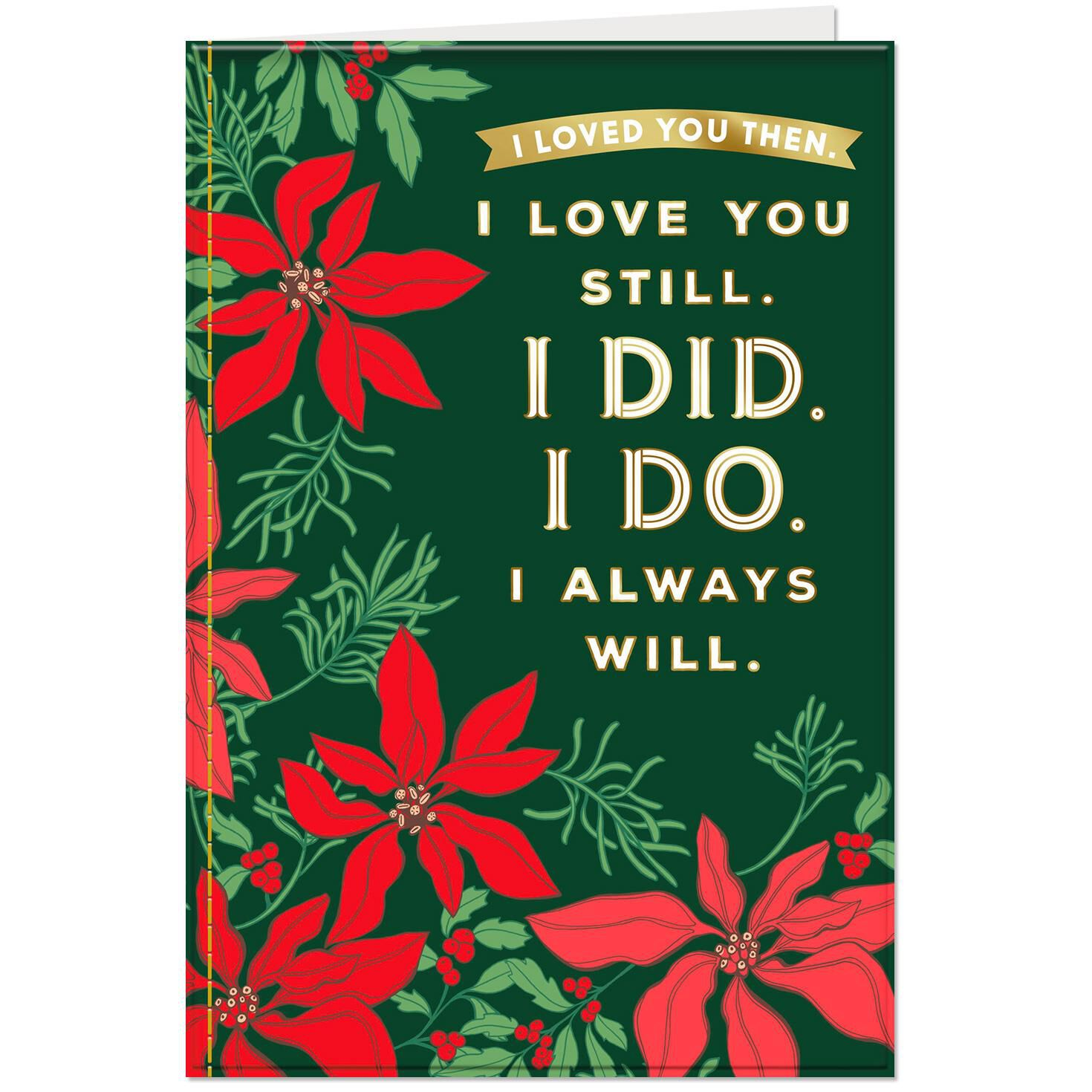 I Will Always Love You Christmas Card From Husband Greeting Cards