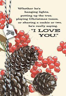 Love Always Christmas Card,
