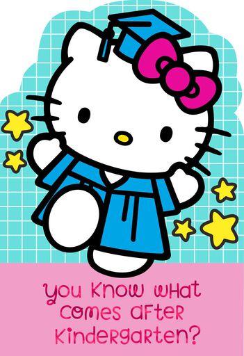 Hello KittyR Kindergarten Graduation Card