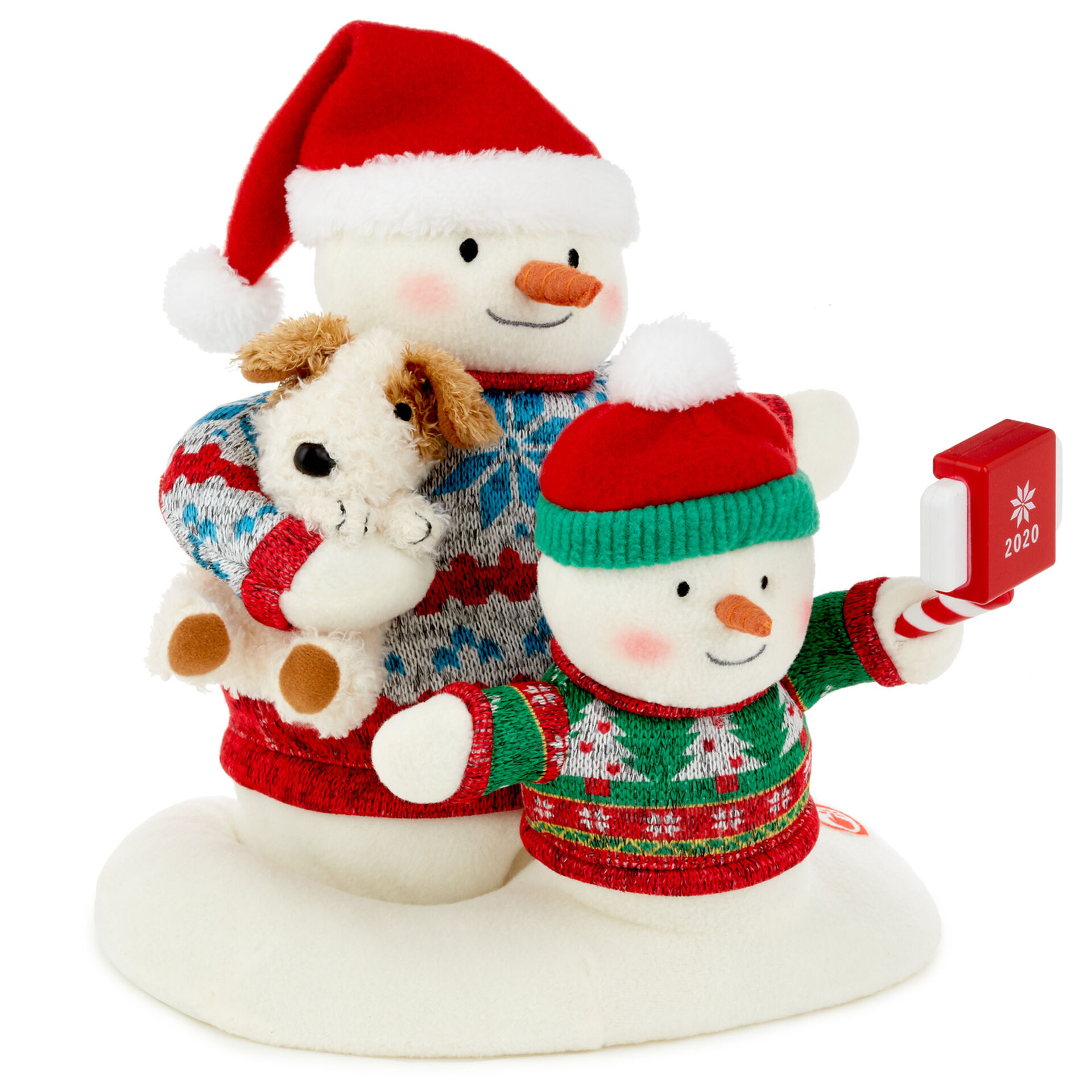 2020  Christmas Snowman Cozy Christmas Selfie Snowman 2020 Singing Stuffed Animal With