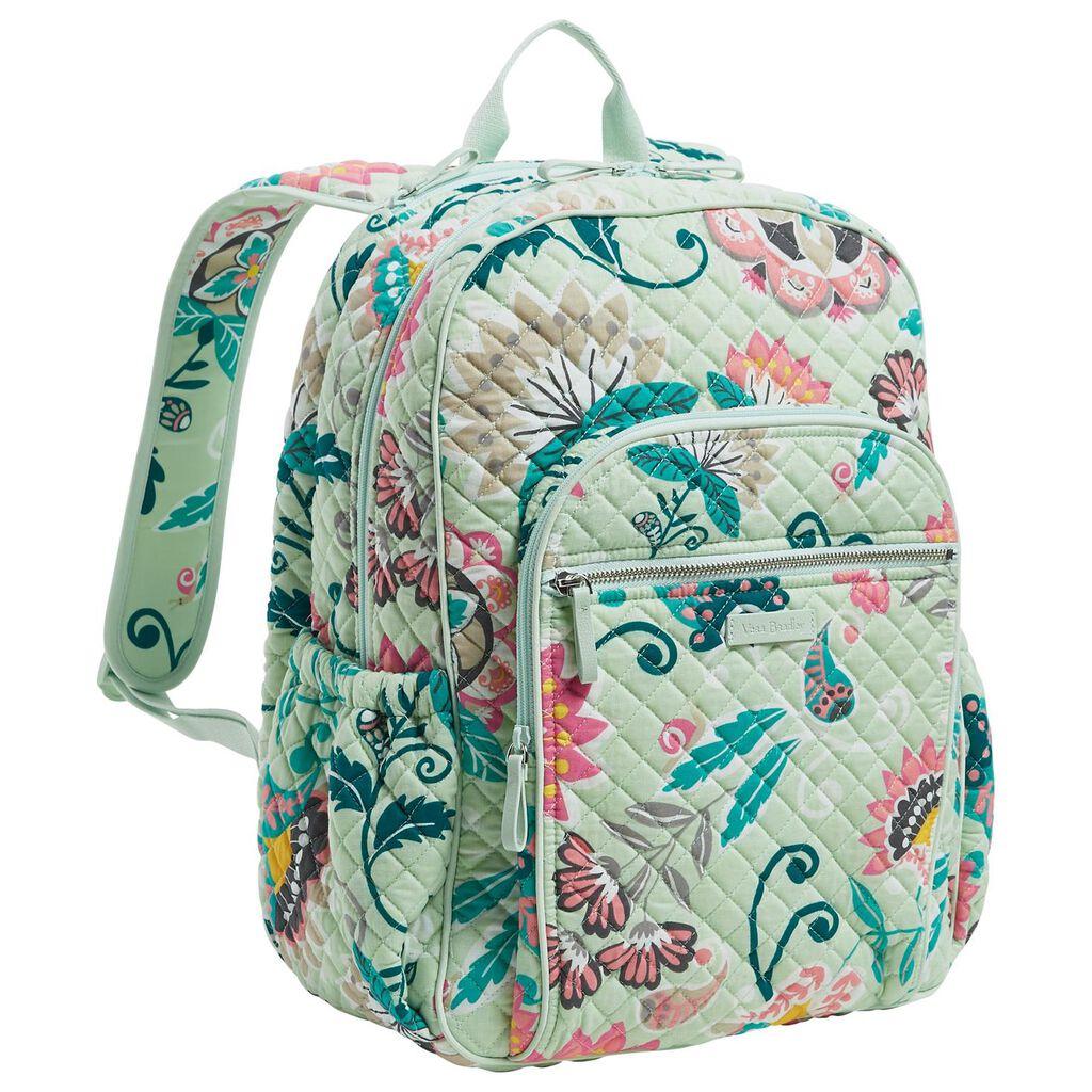 509ee962f01 Vera Bradley Iconic Campus Backpack in Mint Flowers - Handbags ...