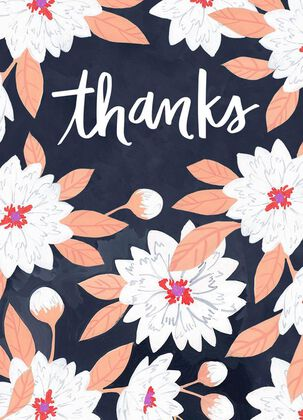 Buds and Blooms Thank You Card