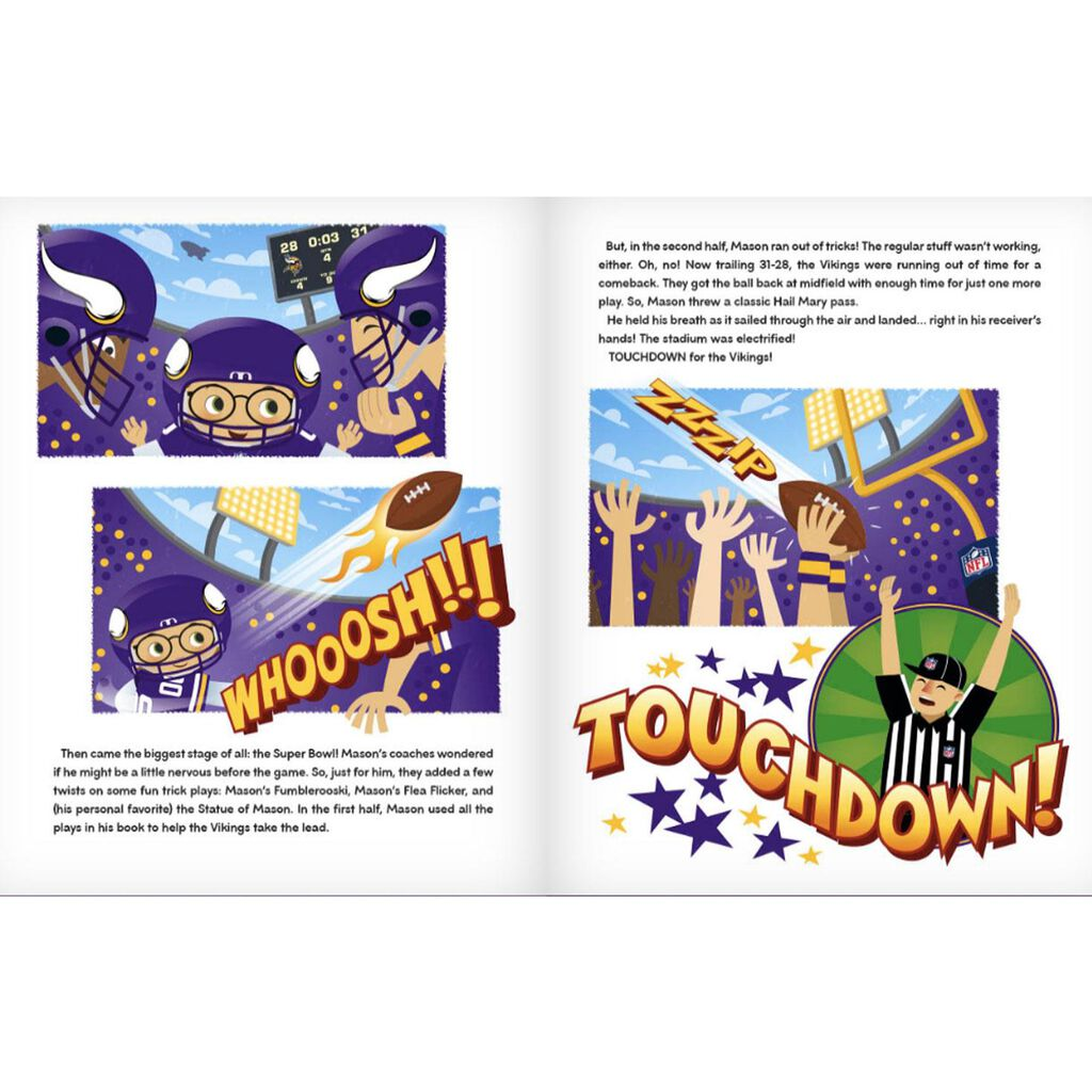 ca7dc9573 Minnesota Vikings NFL Football Personalized Book - Personalized ...