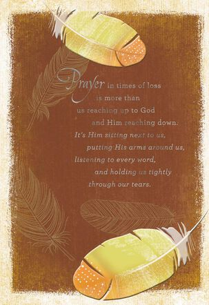 He Holds Us Through Our Tears Religious Sympathy Card