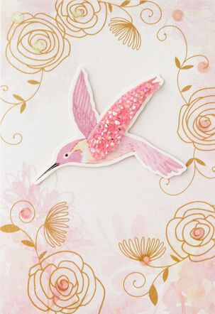 Pink Hummingbird Mother's Day Card