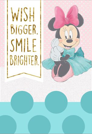 Disney Minnie Mouse Wish Bigger Birthday Card