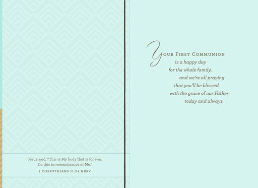 Blessings for a Special Nephew Religious First Communion Card,