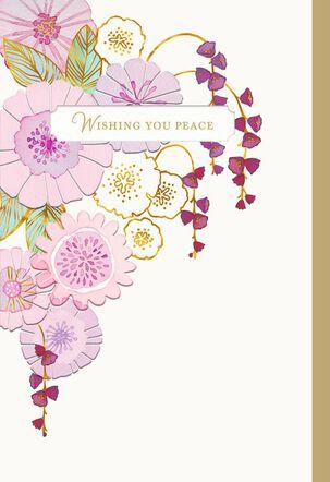 Pinwheel Flower Cascade Sympathy Card
