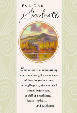 A View from the Mountaintop Graduation Card