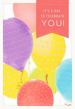Balloons Celebrate You Birthday Card