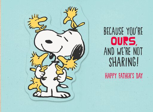 Peanuts® Snoopy Pop Up Father's Day Card From Us,