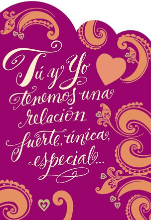 Our Love Is Strong and Special Spanish-Language Love Card