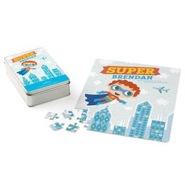Super Hero Personalized Puzzle and Tin, , large