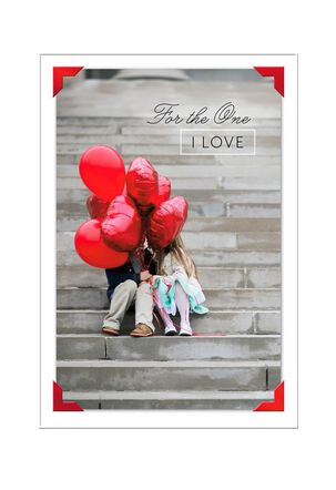 Kids With Heart Balloons Valentine's Day Card for Anyone