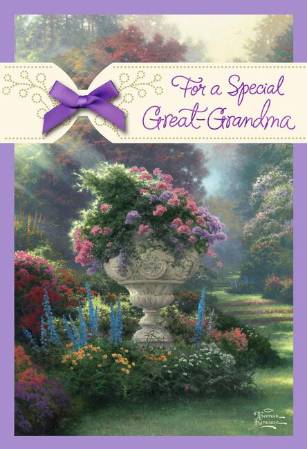 Thomas Kinkade For A Special Great Grandma Birthday Card Greeting