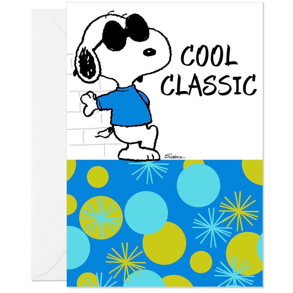 PeanutsR Snoopy Joe Cool Old School Birthday Card