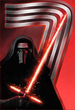 Star Wars™ Kylo Ren™ Musical 7th Birthday Card
