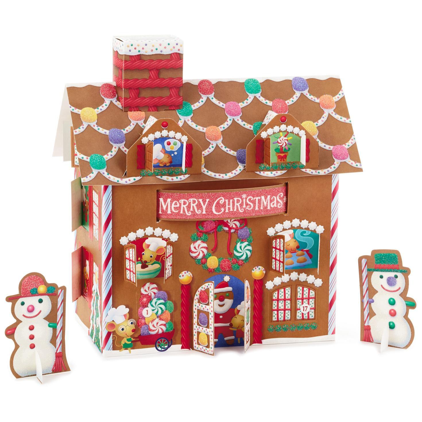 Christmas Gingerbread House.3d Gingerbread House Advent Calendar