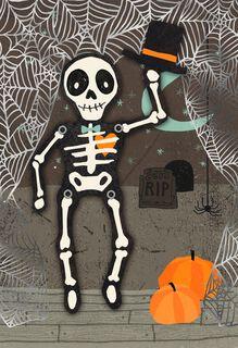 Dancing Skeleton Halloween Love Card,