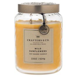 Crafters & Co. Wild Sunflowers Candle, 22-oz, , large