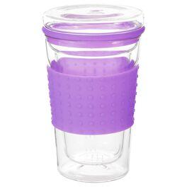 Violet Travel Mug With Tea Infuser, 13.5 oz., , large
