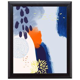 Abstract Blue 20x24 Print With Matted Frame, , large