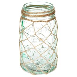 Cedar Cove Netted Glass Jar Candle Holder, , large