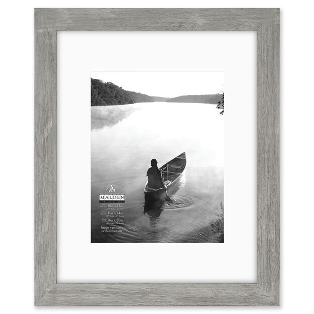 manhattan gray portrait matted picture frame 16x20