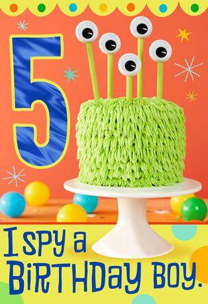 I Spy 5th Birthday Card