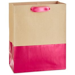"Dipped Fuchsia Medium Gift Bag, 9.5"", , large"