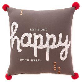 Happy Large Pillow, , large