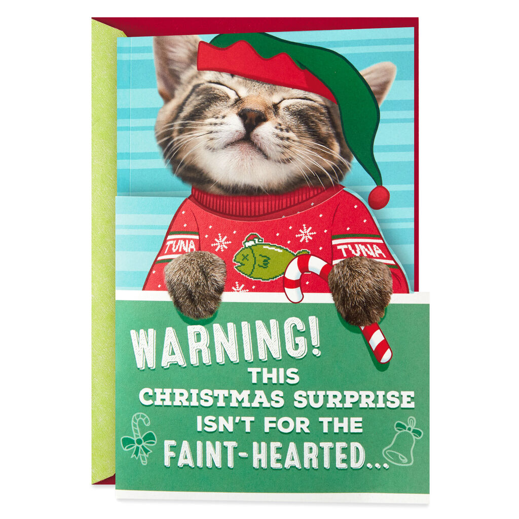 Kitten Christmas.Ticklish Kitten Christmas Card With Sound And Motion