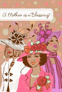 Sunday Hats Mother's Day Card,