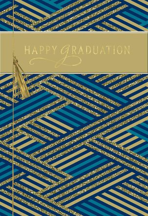 Criss-Cross Congratulations Graduation Card
