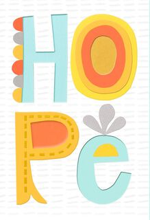 Bright and Happy Hope Encouragement Card,